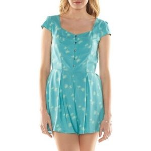 Button up Palm Tree Romper